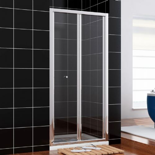 1200MM BI FOLD SHOWER DOORS